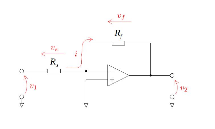 オペアンプを使った反転増幅回路